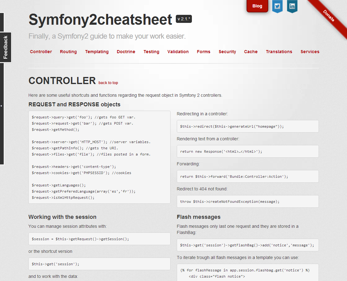 Symfony2 Cheat Sheet